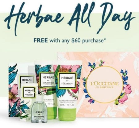 Herbae 4-Piece Hand-Picked Set Free With Any $60 Purchase from L'Occitane