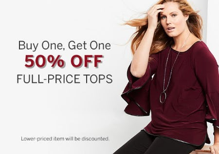 Buy One, Get One 50% Off Full-Price Tops from Dress Barn, Misses And Woman