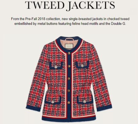 Women's Tweed Jackets from Gucci