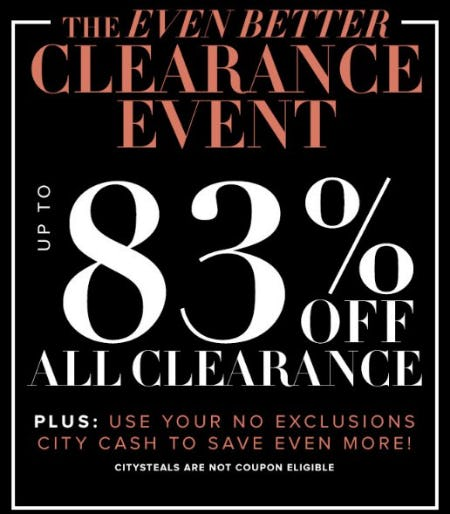 Up to 83% Off All Clearance from New York & Company