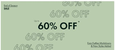 End of Season Sale: Up to 60% Off from Ted Baker London