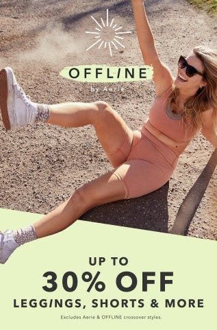 Up to 30% Off Leggings, Shorts & More from Aerie