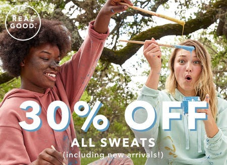 30% Off All Sweats from OFFL/NE by Aerie