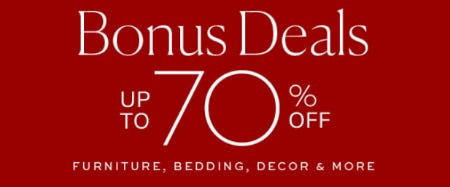 Up to 70% Off Bonus Deals from Pottery Barn
