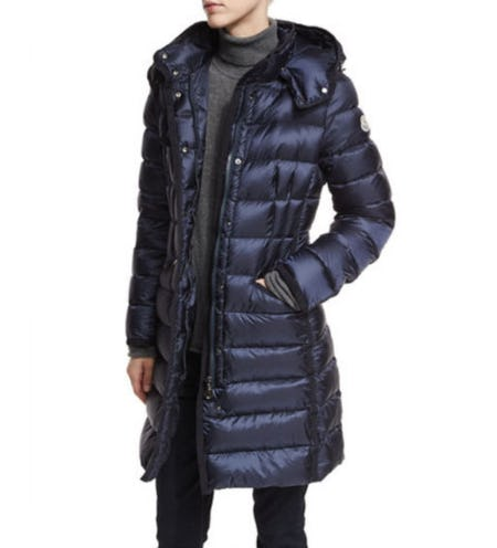 Moncler Hermine Hooded Puffer Jacket from Neiman Marcus