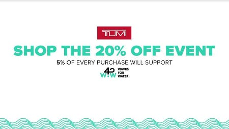 TUMI Wave 4 Water Event from TUMI