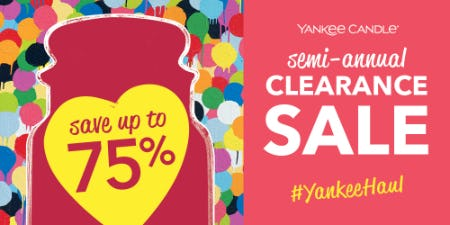 Semi-Annual Sale at Yankee Candle from Yankee Candle