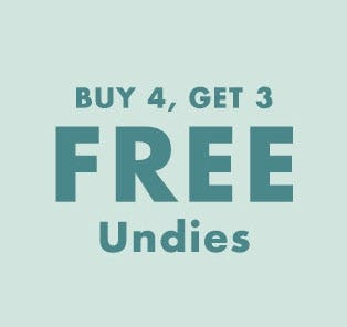 B4G3 Free Undies from Justice