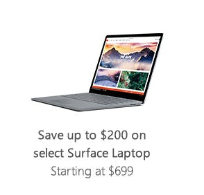 Save Up to $200 on Select Surface Laptop from Microsoft