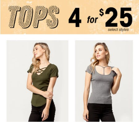 Tops 4 for $25
