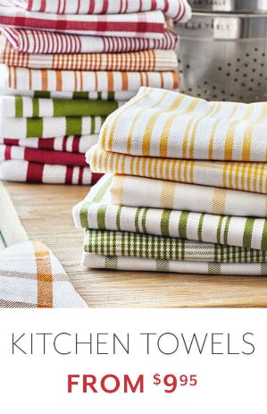Kitchen Towels From $9.95 from Sur La Table