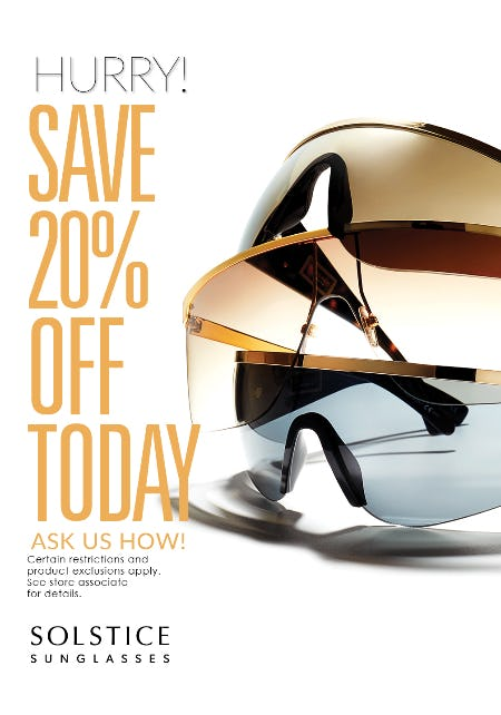 d00cf2cdbff Solstice Sunglasses Save 20% Off Today at Solstice Sunglass Boutique ...