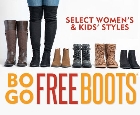 BOGO Free Boots on Select Women's & Kids' Styles