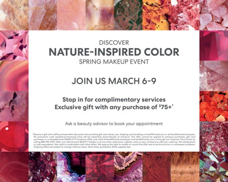 Spring Color Event from bareMinerals