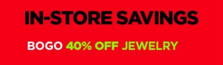 BOGO 40% Off Jewelry