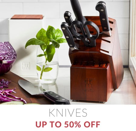 Up to 50% Off Knives from Sur La Table