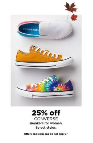 25% Off CONVERSE Sneakers for Women from Kohl's