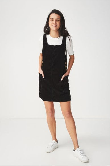 Denim Pinafore Dress from Cotton On