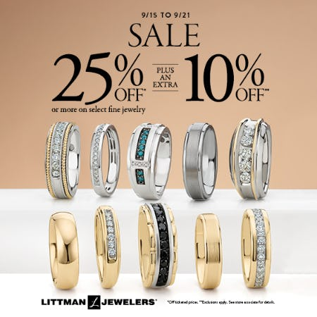 Hello Fall Sale from Littman Jewelers