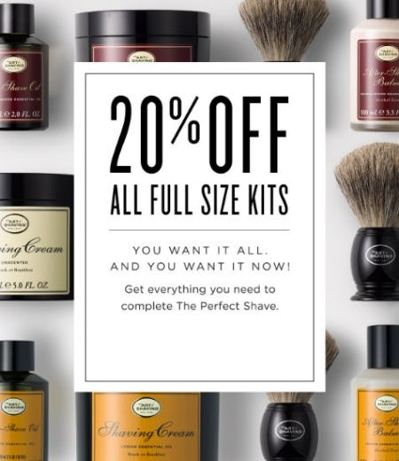 20% Off All Full Size Kits from The Art of Shaving