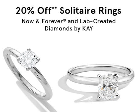 20% Off Solitaire Rings from Kay Jewelers