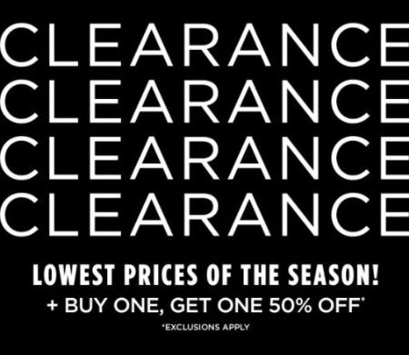 BOGO 50% Off Clearance from Rack Room Shoes