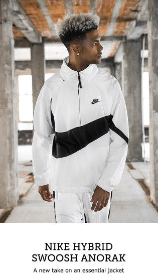 For Spring: Nike Hybrid Swoosh Anorak from Footaction