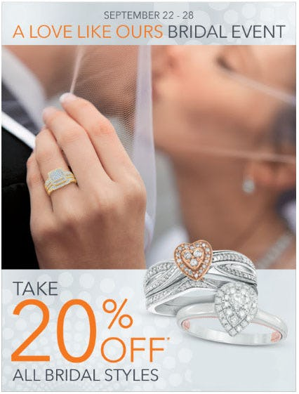 20% Off All Bridal Styles
