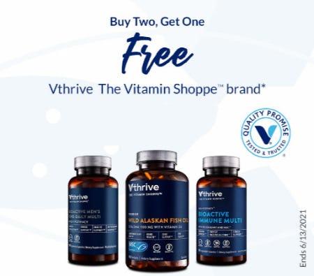 B2G1 Free Vthrive The Vitamin Shoppe Brand