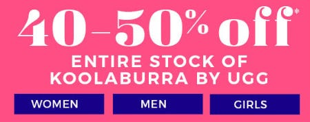 40-50% Off Entire Stock of Koolaburra by UGG from Stein Mart