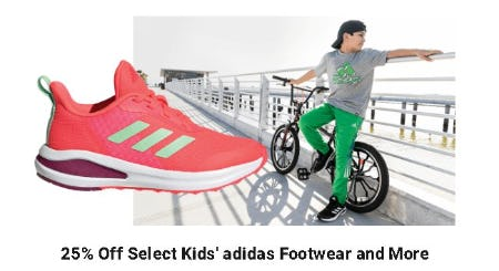 25% Off Select Kids' Adidas Footwear and More from Dick's Sporting Goods