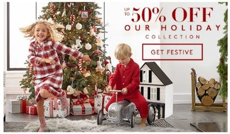 Up to 50% Off Our Holiday Collection from Pottery Barn Kids