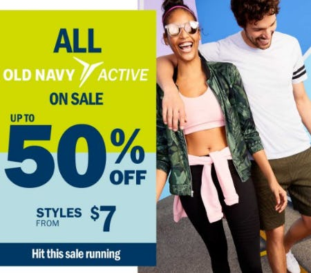 All Old Navy Active on Sale up to 50% Off from Old Navy