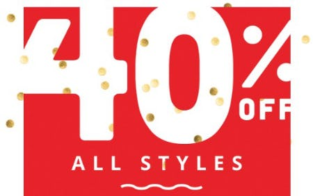 40% Off All Styles