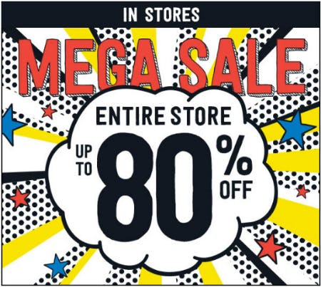 Up to 80% Off Mega Sale from Crazy 8