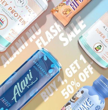 Alani Nu Flash Sale: Buy 1, Get 1 50% Off from GNC