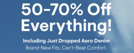 50-70% Off Everything from Aéropostale