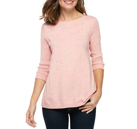 New Directions Rib Side Nep Sweater