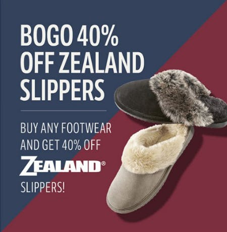 BOGO 40% Off Zealand Slippers