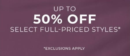 Up to 50% Off Select Full-Priced Styles from Chico's
