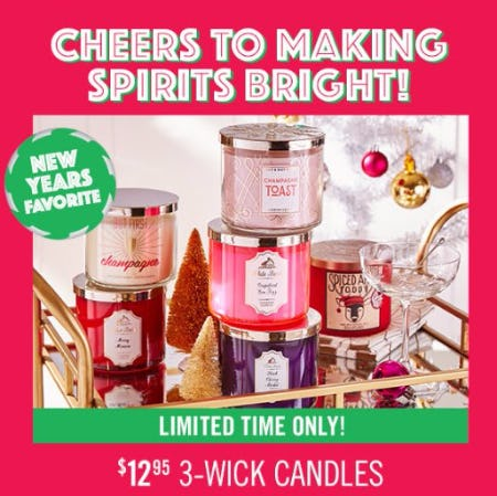$12.95 3-Wick Candles