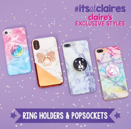 Buy a Phone Case and a Pop Socket for $20 from Claire's
