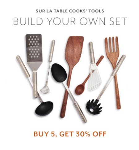 Buy 5, Get 30% Off Cooks' Tools from Sur La Table
