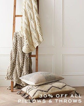 30% Off All Pillows & Throws