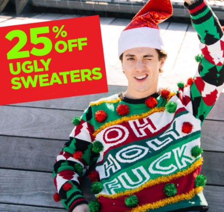 25% Off Ugly Sweaters from Spencer Gifts
