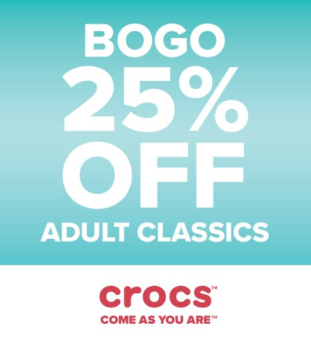 Classic Clogs BOGO 25% Off! from Crocs