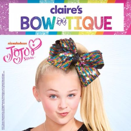 Claire's BOW-Tique JoJo 2-Way Sequin Bow
