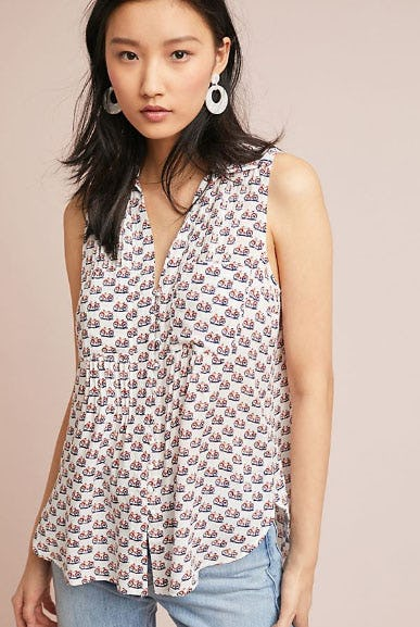 Colloquial Sleeveless Buttondown from Anthropologie