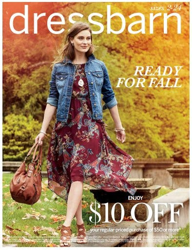 $10 Off Your Regular-Priced Purchase of $50 or More from Dress Barn, Misses And Woman