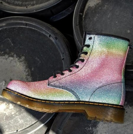 Girls Dr. Martens 1460 8-Eye Glitter Boots from Journeys Kidz